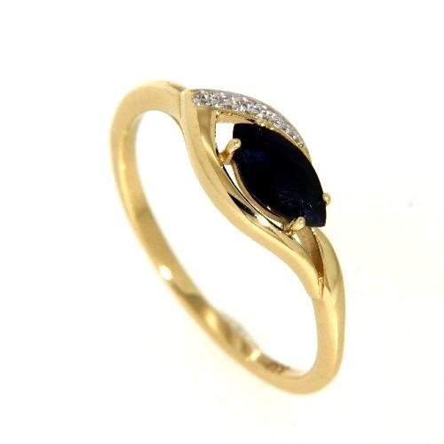 Ring Gold 333 Safir Zirkonia Weite 58