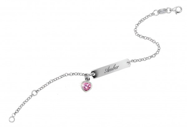 SCOUT Armband silber, rosa Herz 260239100
