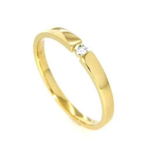 Ring Gold 585 Brillant 0,06 ct. Weite 55