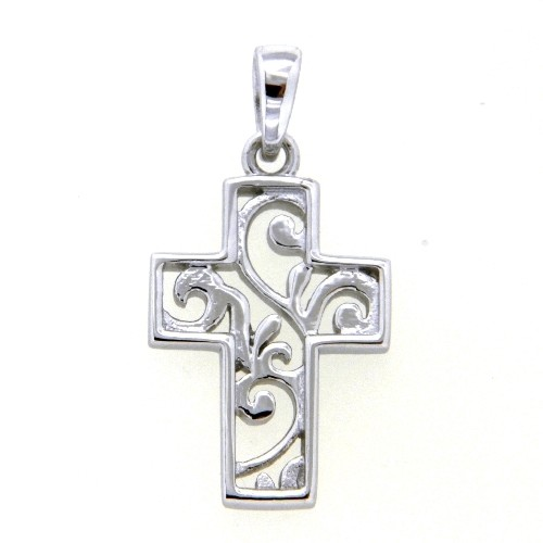 Kreuzanhänger Silber 925 rhodiniert