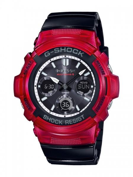 Casio G-SHOCK Funk-Solar Armbanduhr AWG-M100SRB-4AER