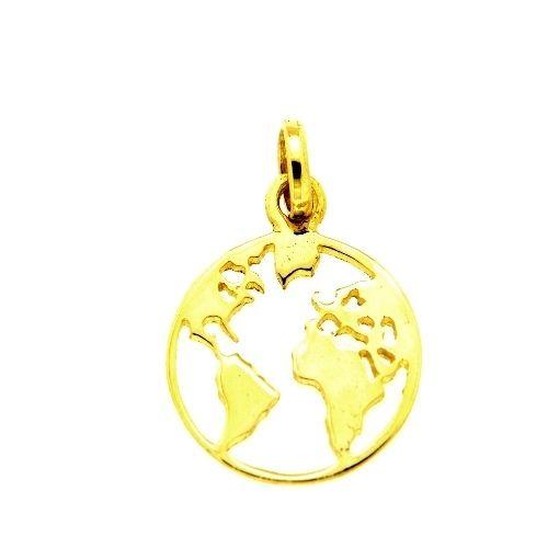 Anhänger Gold 585 Weltkugel