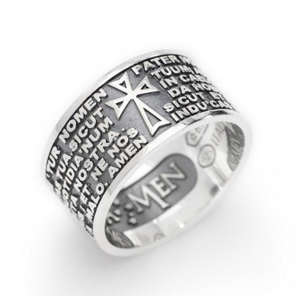 AMEN Ring Silber VATER UNSER Latein PNLAB925-14