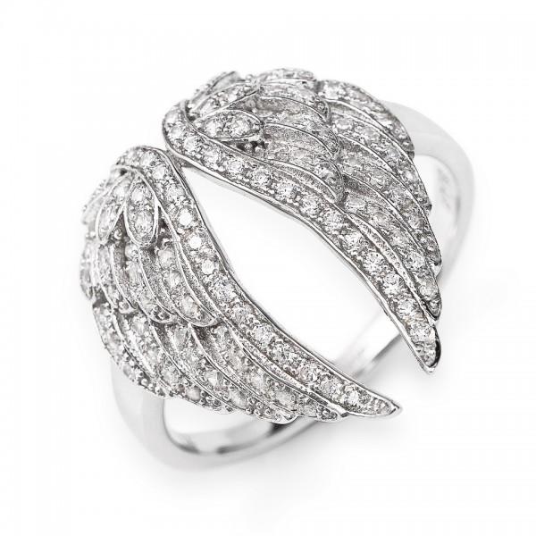 AMEN Ring Silber Flügel Gr. 50 RWH3-10