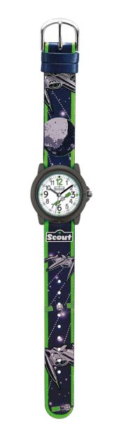 SCOUT Armbanduhr schwarz, grün 280305025