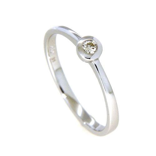 Ring Weißgold 585 Brillant 0,07 ct. Weite 58