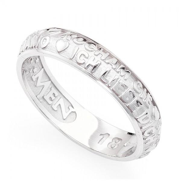 AMEN Ring Silber Gr. 64 ATAB-24