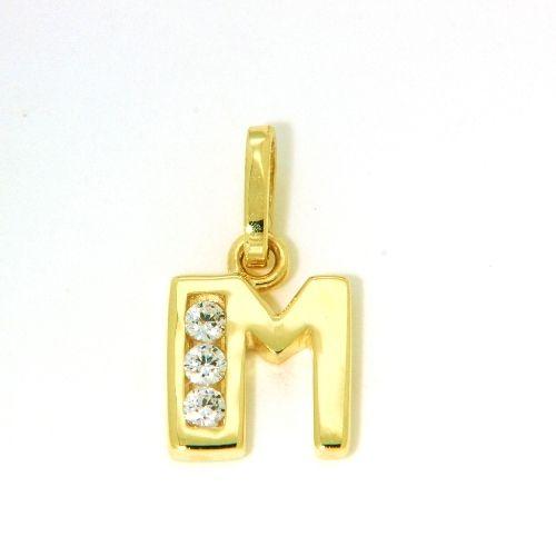 Buchstaben-Anhänger M Gold 333