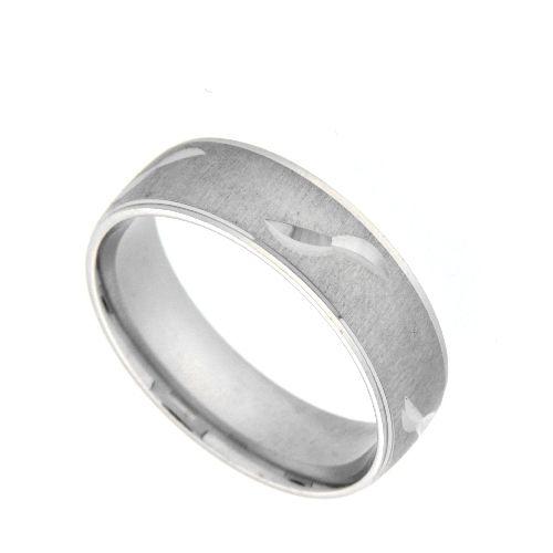 Freundschaftsring Silber 925 rhodiniert Breite 6 mm Weite 52