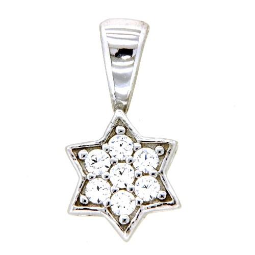 Anhänger Silber 925 rhodiniert Stern