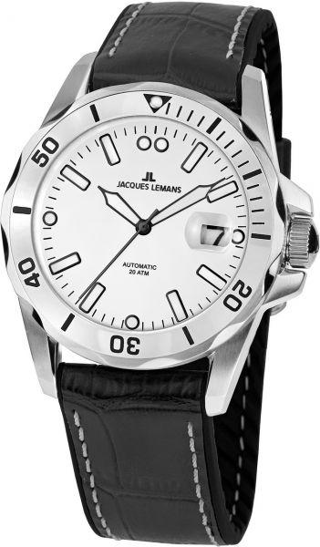 Jacques Lemans Herren-Armbanduhr Liverpool Diver Automatik 1-2089B