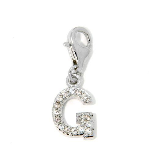 Buchstaben-Charm G Silber 925 rhodiniert
