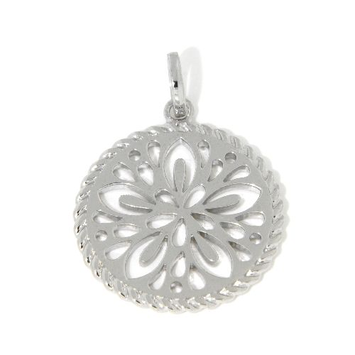 Anhänger Silber 925 rhodiniert Lebensblume