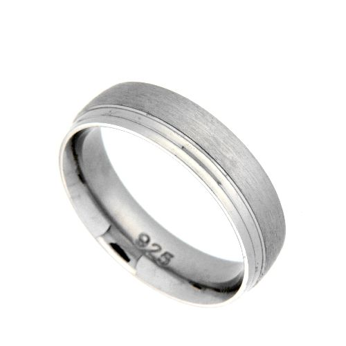 Freundschaftsring Silber 925 rhodiniert Breite 5,5 mm Weite 60