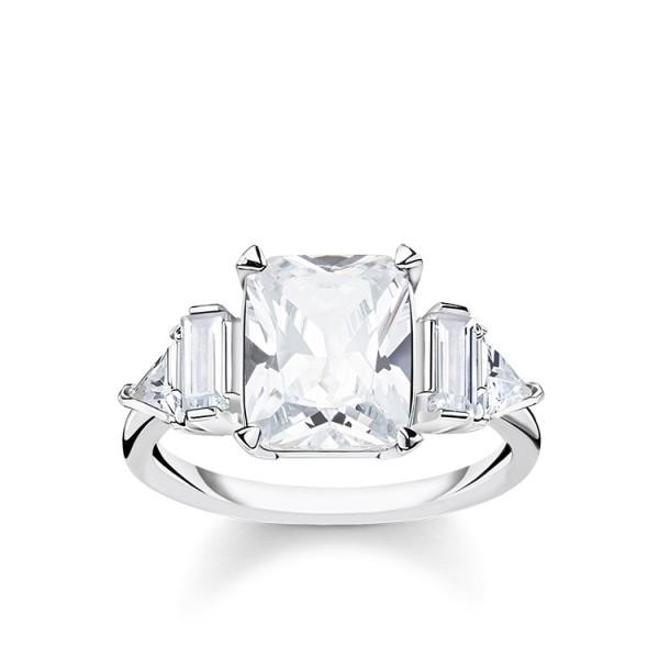Thomas Sabo Ring weiße Steine Größe 58 TR2262-051-14-58