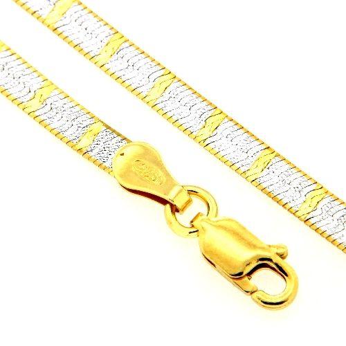 Armband Silber 925 bicolor 19 cm
