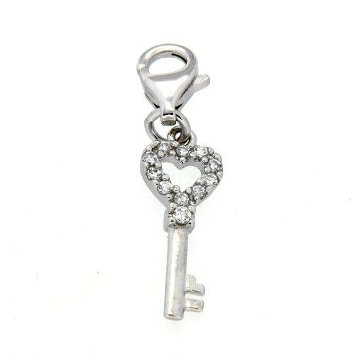 Charm Silber 925 rhodiniert Schlüssel