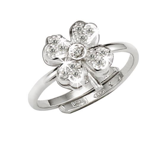 SCOUT Ring mit Zirkonia Kleeblatt 263011100