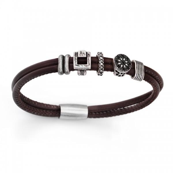 AMEN Armband 20,5 cm Leder BR405-L