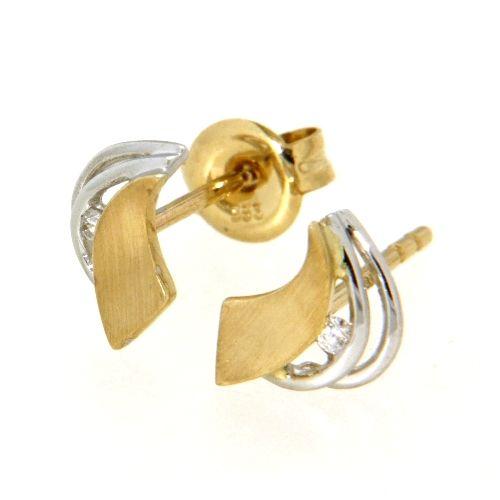 Ohrstecker Gold 333 bicolor GG/WG