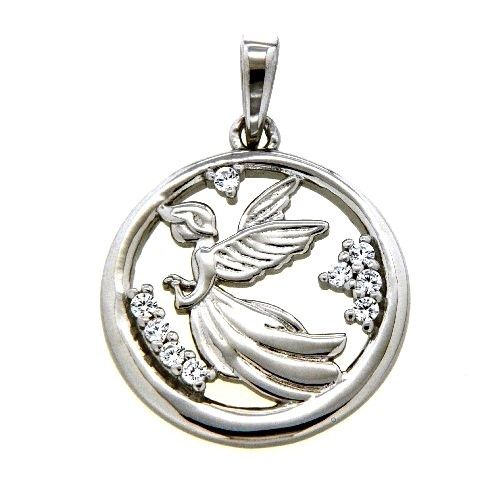 Anhänger Silber 925 rhodiniert Elfe Zirkonia