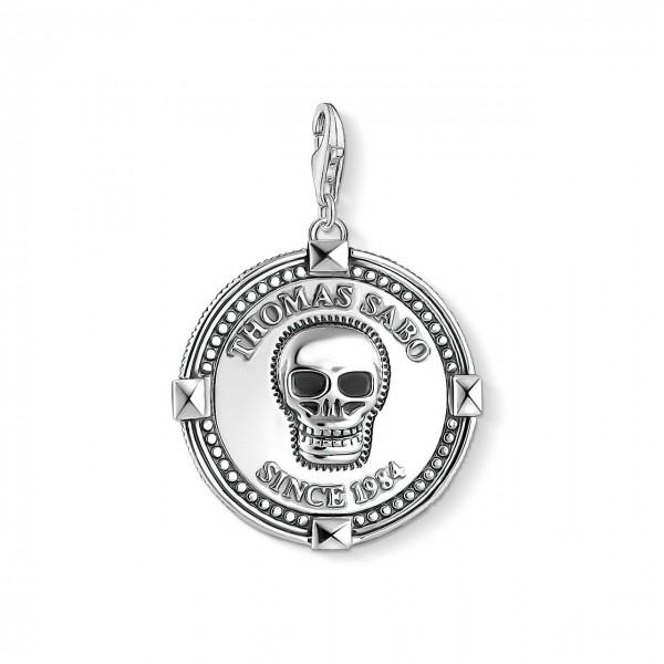Thomas Sabo Charm-Anhänger Coin Totenkopf 1698-637-21