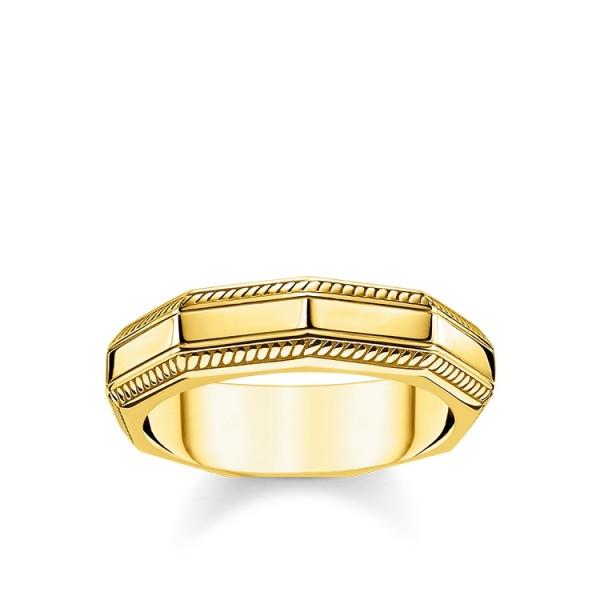 Thomas Sabo Ring eckig vergoldet Größe 48 TR2276-413-39-48