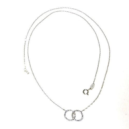 Collier Silber 925 rhodiniert 45-42 cm
