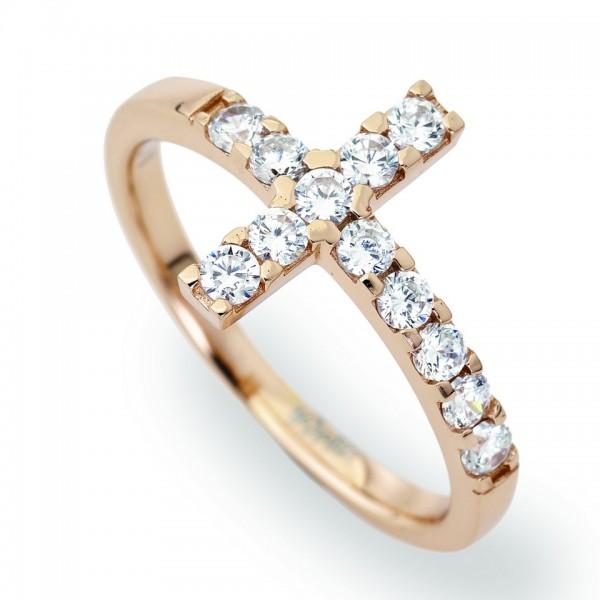 AMEN Ring Silber Kreuz Gr. 58 ACORB-18
