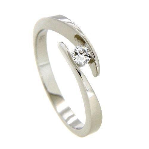 Ring Silber 925 rhodiniert Zirkonia Weite 52