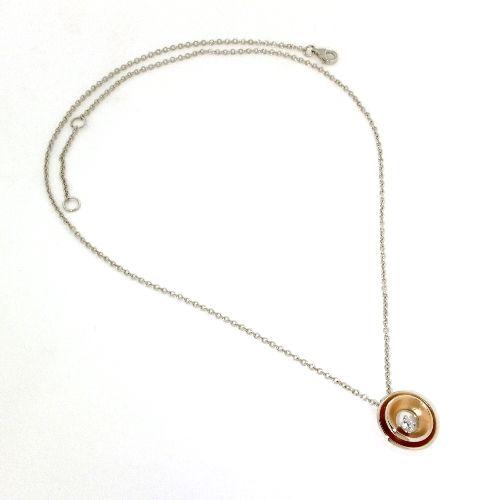 Collier Silber 925 rhodiniert & rosé vergoldet 45 cm Zirkonia