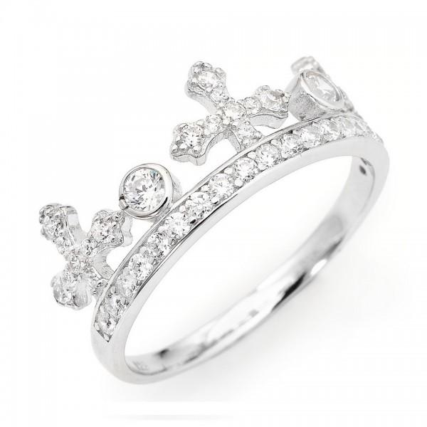 AMEN Ring Silber Kreuz Gr. 58 AC1-18