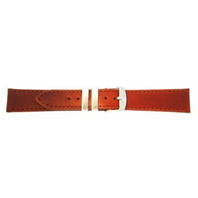 Uhrarmband Leder 20mm rotbraun Edelstahlschließe