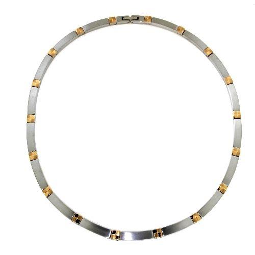 Collier Titan 45 cm bicolor IPR Klappverschluss