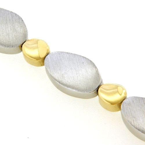 Kette Silber 925 rhodiniert und gelb vergoldet 45 cm