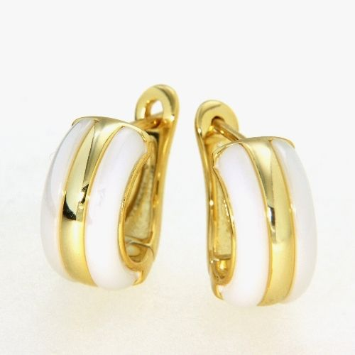 Scharniercreolen Silber 925 gelb vergoldet