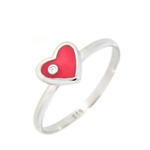 Ring Silber 925 rhodiniert Zirkonia Lack pink Weite 48