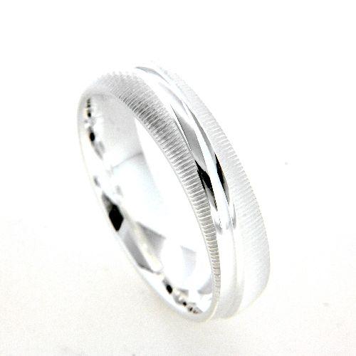 Freundschaftsring Silber 925 Breite 5 mm Weite 59