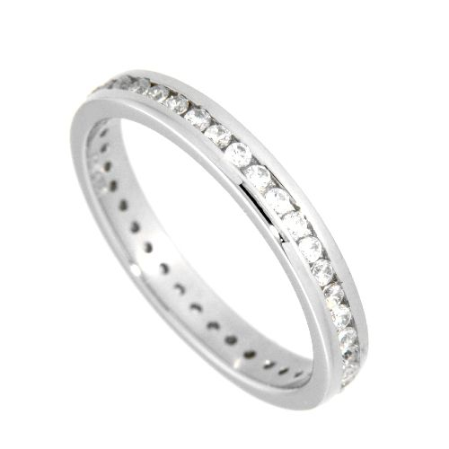 Ring (Memoire) Silber 925 rhodiniert Weite 54