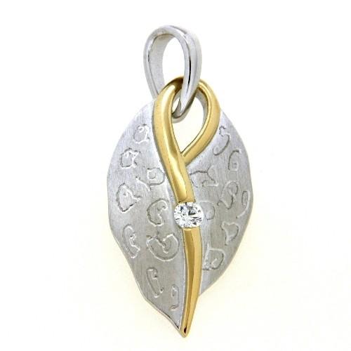 Anhänger Silber 925 rhodiniert & vergoldet