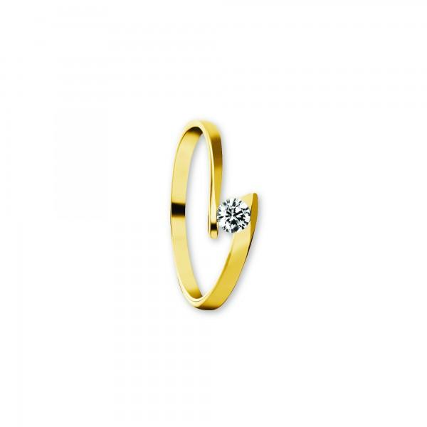 Ring Zirkonia 333 Gelbgold Größe 60