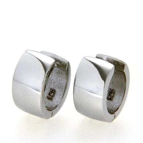 Scharniercreolen Silber 925 rhodiniert 9 mm x 14,5 mm