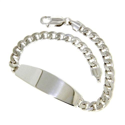 Idenditäts-Armband Silber 925 rhodiniert 21 cm