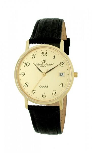 Claude Pascal Armbanduhr Herren Gold 585 394280 GA