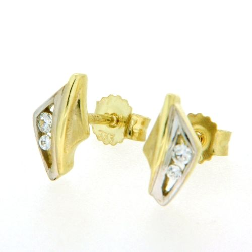 Ohrstecker Gold 333 bicolor