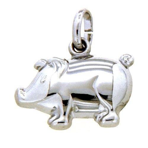 Anhänger Silber 925 rhodiniert Glücksschwein