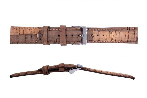 LAiMER Uhrband Kork 18 mm UB64