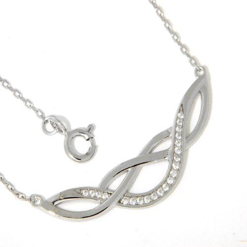 Collier Silber 925 rhodiniert 42 cm+3 cm