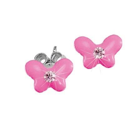 SCOUT Ohrstecker rosa, silber Schmetterlinge 262157100