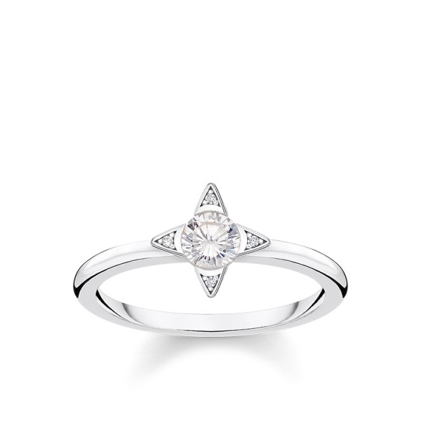 Thomas Sabo Ring weiße Steine Größe 52 TR2268-051-14-52
